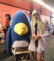 Prinny and Flonne cosplay by Shiroyuki9