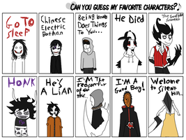 .:Guess The Characters Meme:. by Undead-Autumn