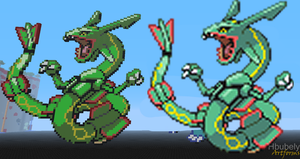 Rayquaza - Minecraft Art by HbubelyArtForms