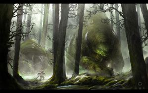 The forest of Golem by LukaszSienkiewicz