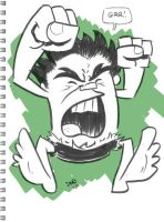 Hulk sketchbook doodle by thecheckeredman