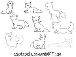 Canine Pack Lineart Dump by Adoptabelz