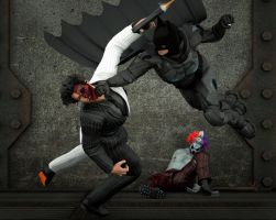 Batman vs Two Faces by hiram67