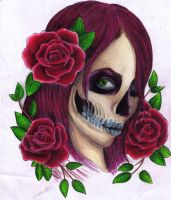 Me as a Skull by lights-are-out