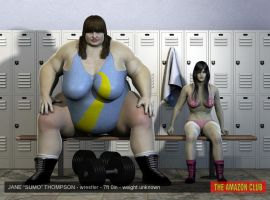 "Jane ""sumo"" Thompson - wrestler - 7ft by theamazonclub"