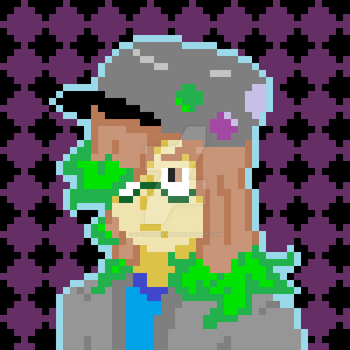 Self-Portrait (pixel art experimentation) by KitsuneHawk