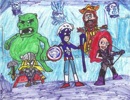 Animated Avengers 2012 by SonicClone