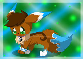 Ginger the eevee by snowflake95