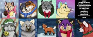 Winter Pup Trades (FINISHED) by NatsumeWolf