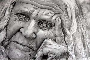 Elderly Woman by donchild
