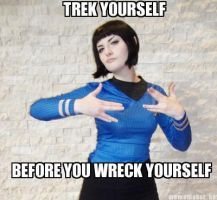 Momocon 2013 - Trek Yourself - Spockette Preview by aXkosplay