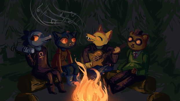 Night in the Woods Commission by VividGrim