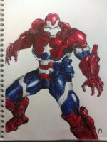 Iron Patriot Inked by YoungNeilz