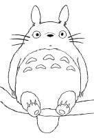 Totoro Coloring Page by HowToDrawManga3D