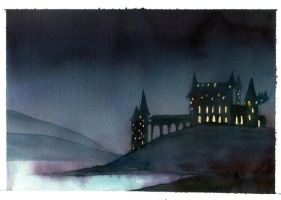 Hogwarts at Night by The-Starhorse