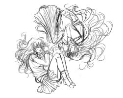 Two lives-one soul redone sketch by Roots-Love