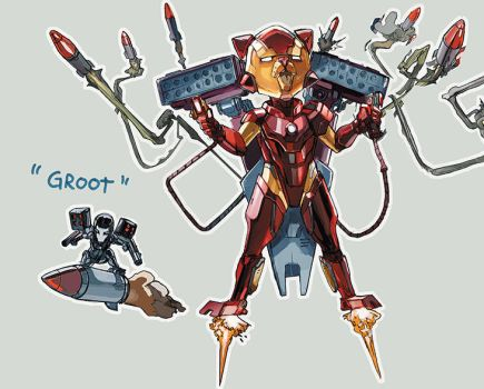 iron rocket and groot machine by Peter-v-Nguyen