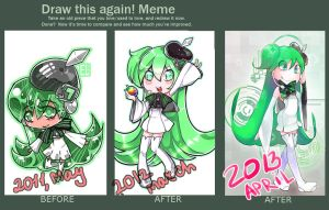 DRAW THIS AGAIN AGAIN AND AGAIN MEME by Gobi-the-dog