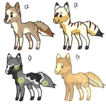 Natural Adopts 1 LEFT PLEASE BUY HOMELESS DOGS :'( by Samooraii