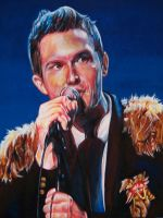 Brandon Flowers - the Killers by whiterabbitart