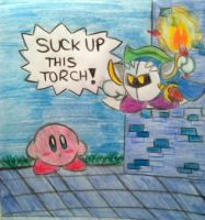 SUCK UP THIS TORCH! by MiniKirby100