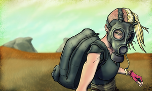 The Girl in the Gas Mask: Scouting by Dok-aLeXa