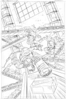 TMNT new animated adventures #12 pencils cover art by DarioBrizuelaArtwork