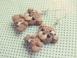 Tedy Bear earrings by M-Made