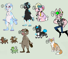 BUNCH OF CHEAP ADOPTS! (the rest are 50 points) by GHETTO-DOG