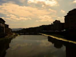 River in Florence by FERONAS