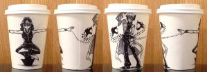 Medusa and Stien Coffee Cup by evanesce24
