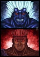 Oni and Evil Ryu by Antares69