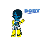 V 2.0 Dory the Blue Tang anthropormorphic by madame-paga