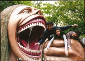 Being eaten alive! (AoT Japan Universal studios) by ActiveAaron