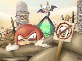 Guarding the Master Emerald by ChibiDoodlez
