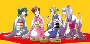 GINTAMA GIRLS PARTY by Xacro