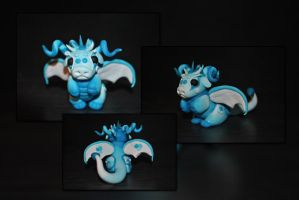 Baby Frost Dragon by KirstenBerryCrafts