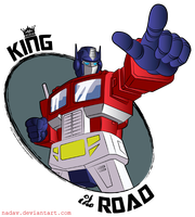 Optimus Prime - King of the Road (T-shirt design) by nadav