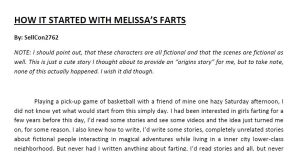 How It Started With Melissa's Farts by SellCon2762