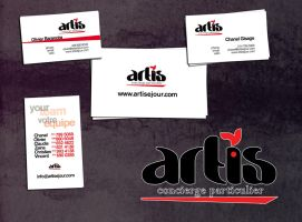 logo and business id for ARTIS by sounddecor