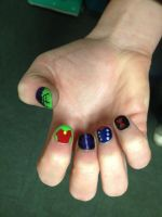 Age of Ultron Nail Art (Right Hand) by goldenConnpass