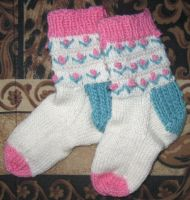 Child's Flower socks by Giselle-M