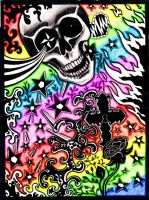 Skull Crossfire by Bonniemarie