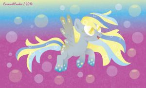Rainbow POWER(ED) Derpy Hooves by CaramelCookie