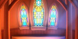 Church Stained Glass Mural by wrinkledlight