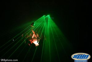 Laser show at Spin by SREphoto