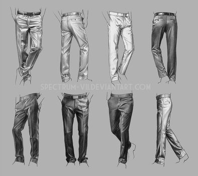 A study in suit pants by Spectrum-VII