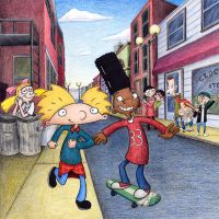 Hey Arnold - cover art, promo by unluckystunt