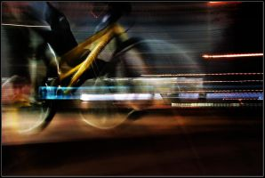 bike at night by DS1985