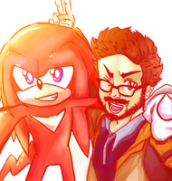 Selfie with knuckles by DanTH